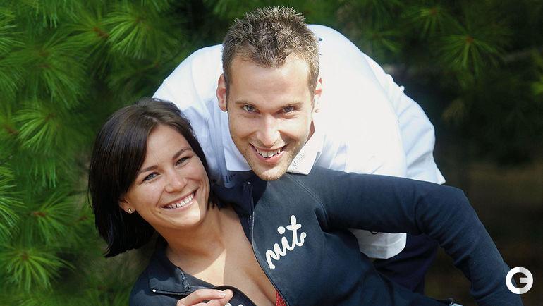 Петр ЧЕХ вместе с супругой Мартиной.