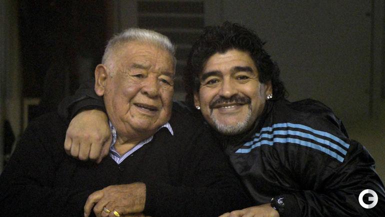 Диего МАРАДОНА с отцом.