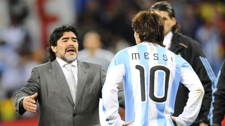 Диего МАРАДОНА и Лионель МЕССИ. Фото AFP