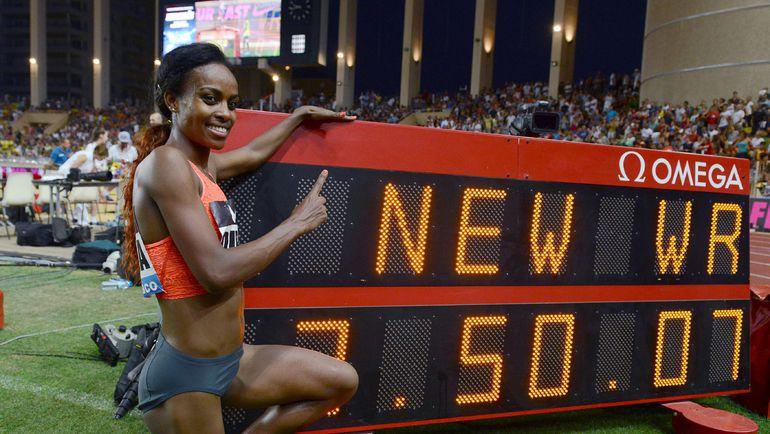 Вчера. Монако. Гензебе ДИБАБА побила мировой рекорд 22-летней давности. Фото REUTERS