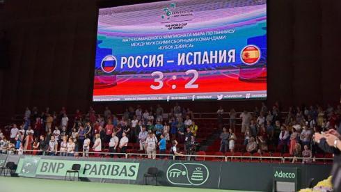 Сегодня. Владивосток. Сборная России победила Испанию, уступая со счетом 0-2. Фото ФТР