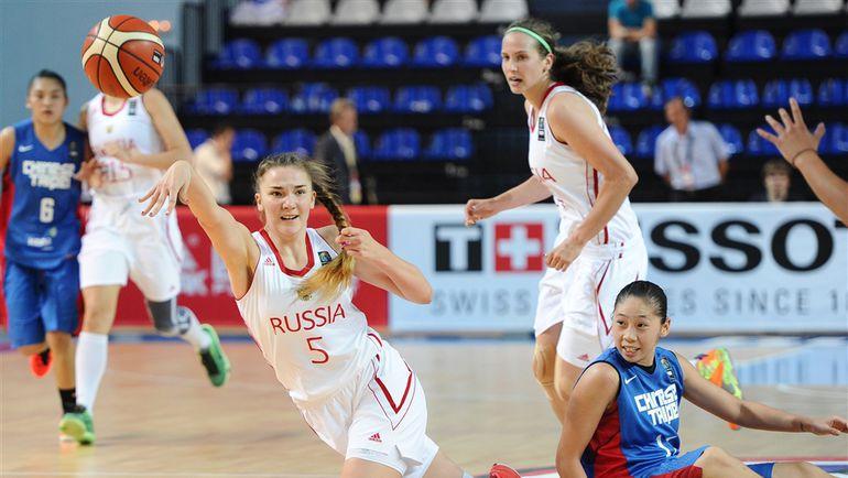 Суббота. Чехов. Мария ВАДЕЕВА (№ 5) в матче Россия - Китайский Тайбэй (89:43). Фото FIBA
