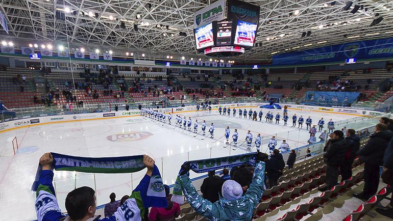 """Глядя на количество зрителей на матчах """"Югры"""", возникает вопрос, для кого эта команда выступает в КХЛ. Фото ХК """"Югра"""""""