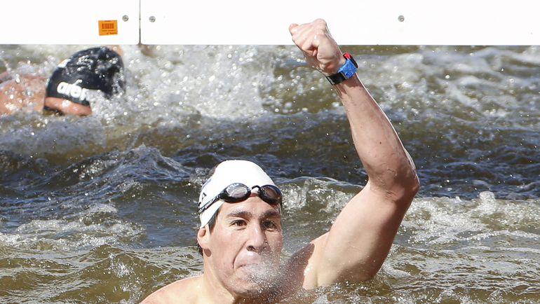 Сегодня. Казань. Чад ХО - чемпион мира на дистанции 5 км на открытой воде. Фото REUTERS