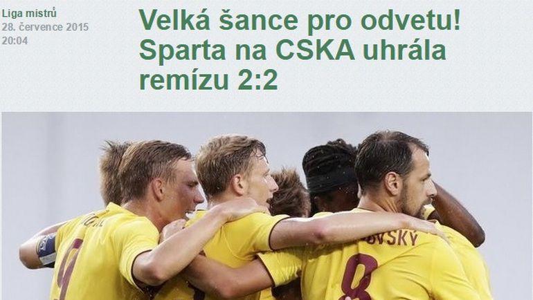 """""""Это был безумный матч!"""" Фото isport.blesk.cz"""