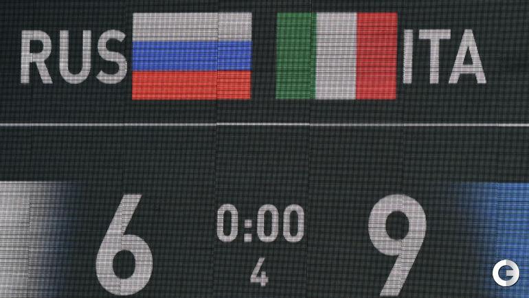 Россияне уступили итальянцам на ЧМ-2015 в Казани