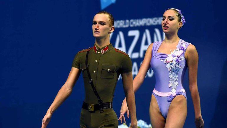 Российский дуэт в миксте - один из самых обсуждаемых на чемпионате. Фото twitter.com/jamesglynn/status/625646467877838848