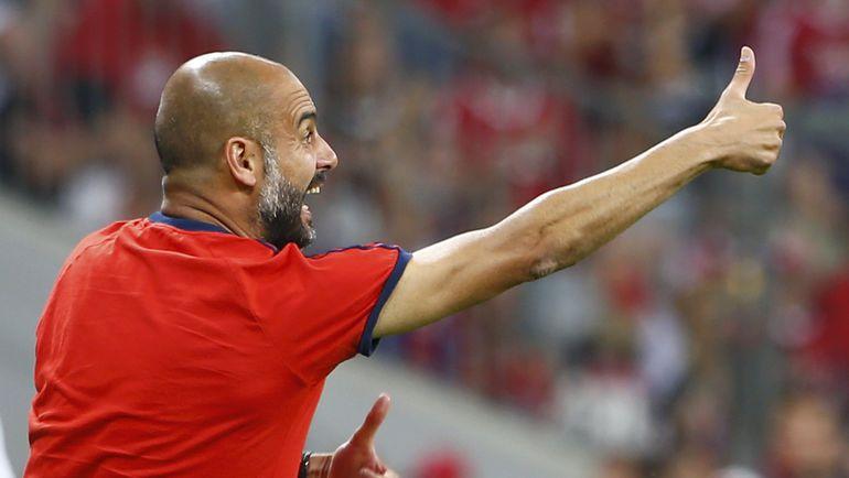 """Вчера. Мюнхен. """"Бавария"""" - """"Милан"""" - 3:0. Хосеп ГВАРДЬОЛА. Фото REUTERS"""