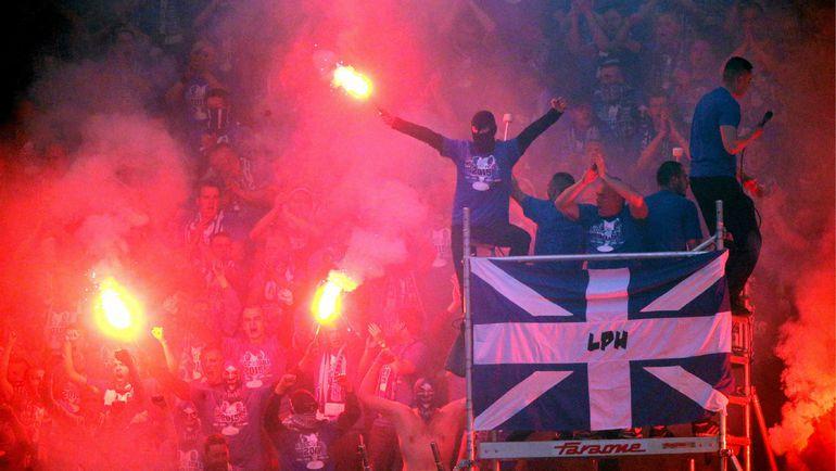 """Фанаты """"Леха"""" подвели свой клуб. Фото AFP"""