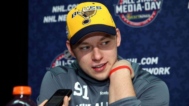 Владимир ТАРАСЕНКО на первом для себя Матч звезд НХЛ. Фото Reuters