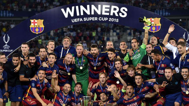 """""""Барселона"""" взяла первый трофей сезона. Фото AFP"""