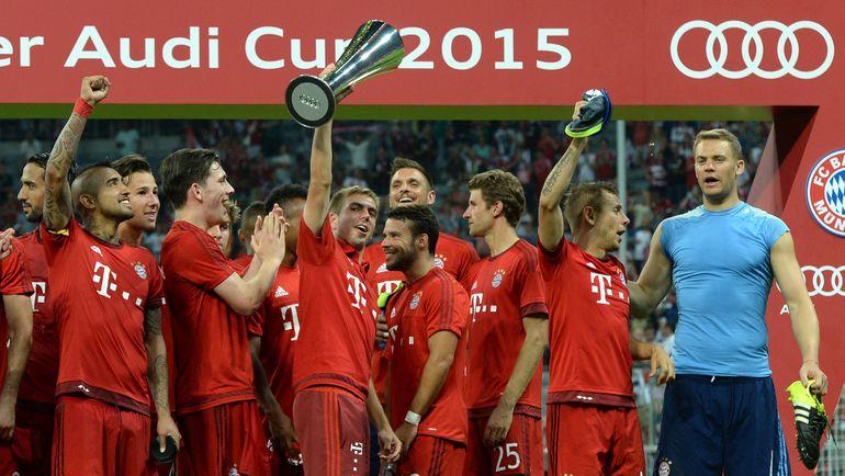 """""""Бавария"""" празднует победу в Audi Cup. Фото AFP"""