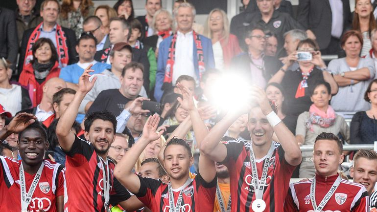 """17 мая. Победа """"Ингольштадта"""" и выход в первую бундеслигу. Фото AFP"""