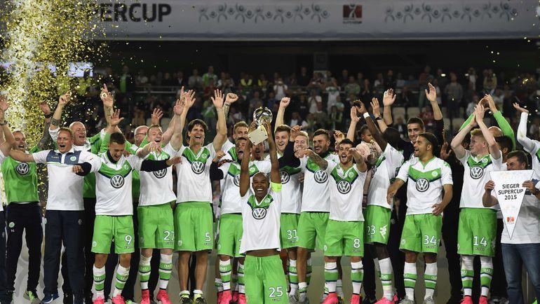 """""""Вольфсбург"""" с суперкубком Германии. Фото AFP"""