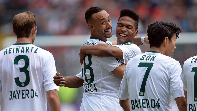 """Игроки """"Байера"""" празднуют забитый гол. Фото AFP"""