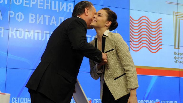 """Виталий МУТКО (слева) и Аделина СОТНИКОВА. Фото Федор УСПЕНСКИЙ, """"СЭ"""""""