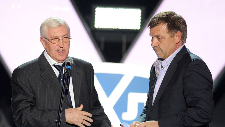 Борис МИХАЙЛОВ и Олег ЗНАРОК. Фото Юрий КУЗЬМИН, photo.khl.ru