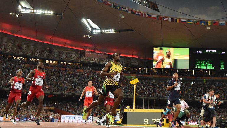 Воскресенье. Пекин. Усэйн БОЛТ: мгновения после золотого финиша. Фото AFP