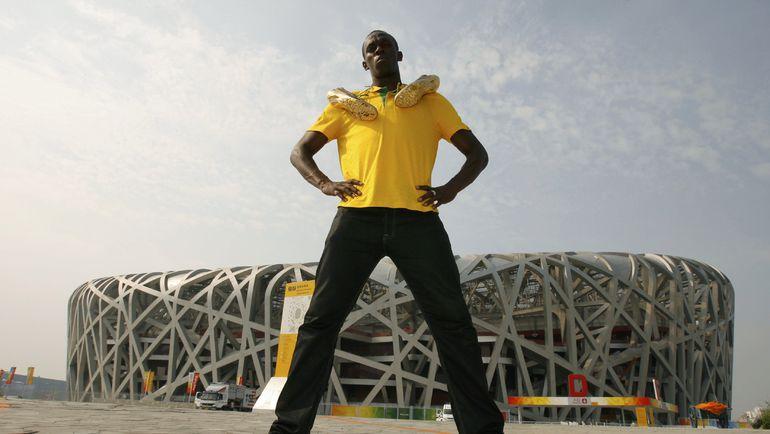 2008 год. Усэйн БОЛТ в олимпийском Пекине. Фото AFP