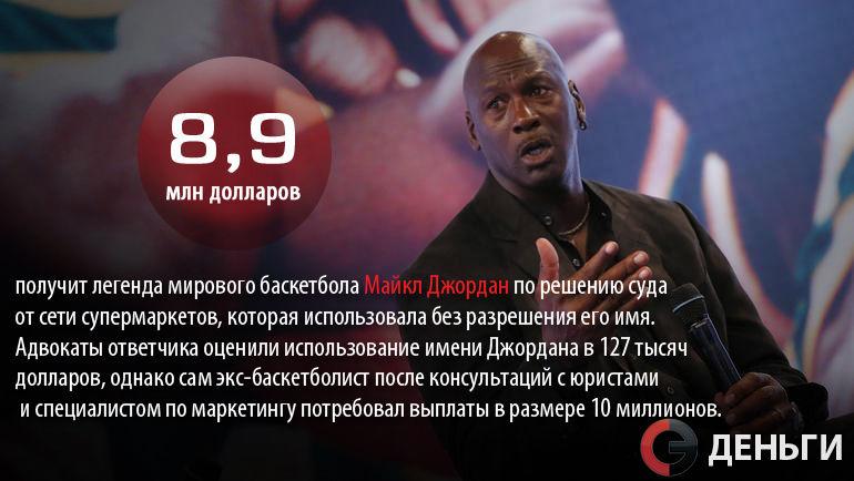 """Майкл ДЖОРДАН получит компенсацию за использование его имени. Фото """"СЭ"""""""
