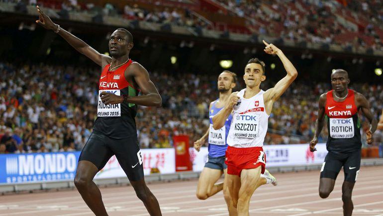 Вторник. Пекин. Давид РУДИША побеждает на дистанции 800 метров. Фото REUTERS