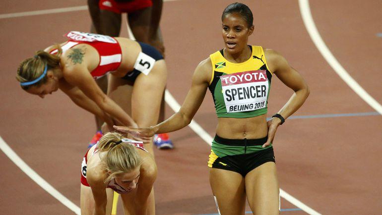 Калиса СПЕНСЕР с Ямайки - одна из главных претенденток на золото на дистанции 400 метров с барьерами. Фото REUTERS
