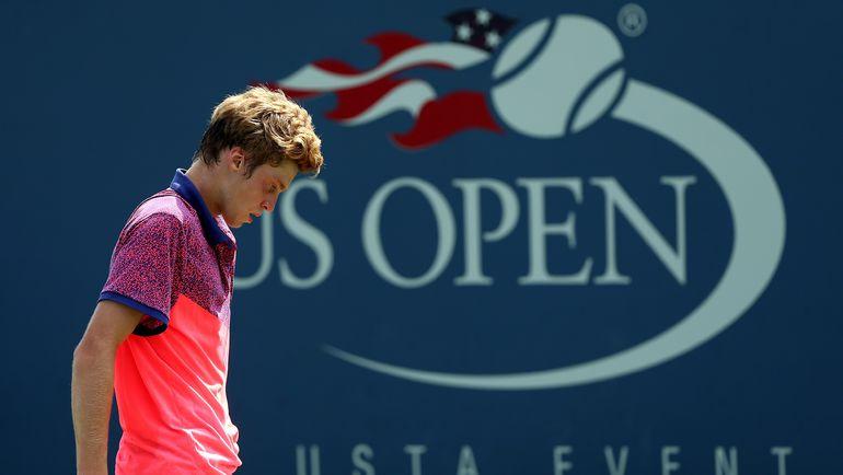 Год назад Андрей РУБЛЕВ выступал на US Open среди юниоров, теперь дебютирует в основной сетке. Фото AFP