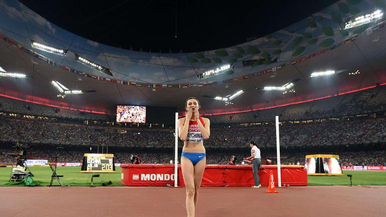 Мария КУЧИНА в Пекине после выполнения своих прыжков не подходила за подсказками к личному тренеру. Фото AFP