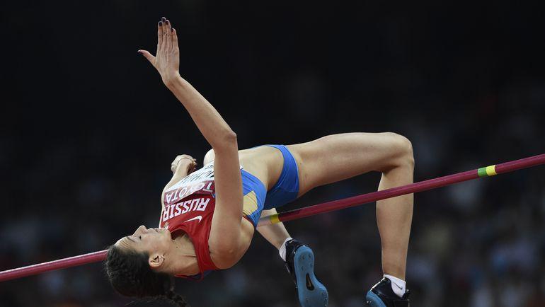 Мария КУЧИНА победила в Пекине с результатом 2,01. Фото AFP
