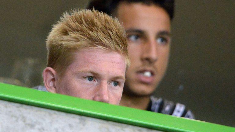 Кевин ДЕ БРЕЙНЕ смотрел игру с трибуны. Фото AFP