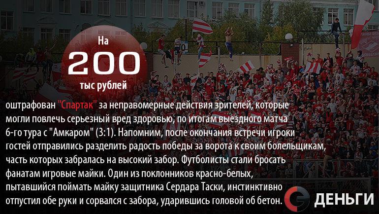"Новый штраф для ""Спартака"". Фото ""СЭ"""