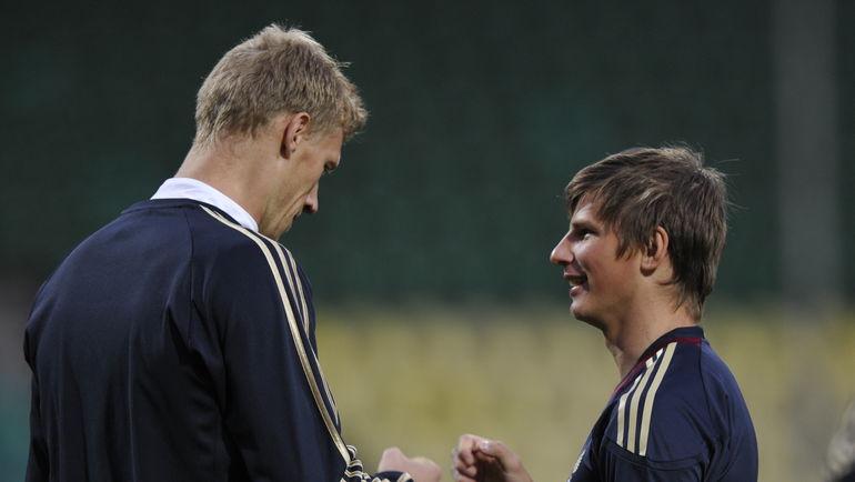 2011 год. Павел ПОГРЕБНЯК и Андрей АРШАВИН. Фото Александр ФЕДОРОВ, AFP