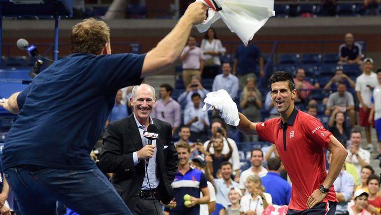 2 сентября. Нью-Йорк. Победный танец Новака ДЖОКОВИЧА. Фото AFP