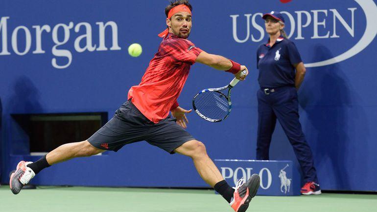 Пятница. Нью-Йорк. Фабио ФОНЬИНИ в третий раз за сезон обыгрывает Рафаэля Надаля и выходит в четвертый круг US Open. Фото AFP
