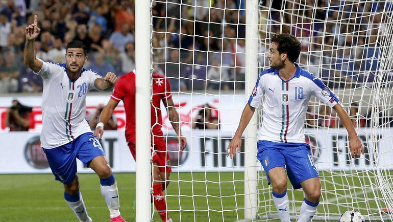 После победы над Мальтой Италия встречается на Сицилии с Болгарией. Фото AFP