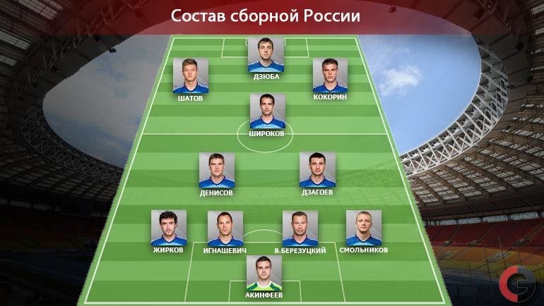 Стартовый состав сборной России. Фото «СЭ»