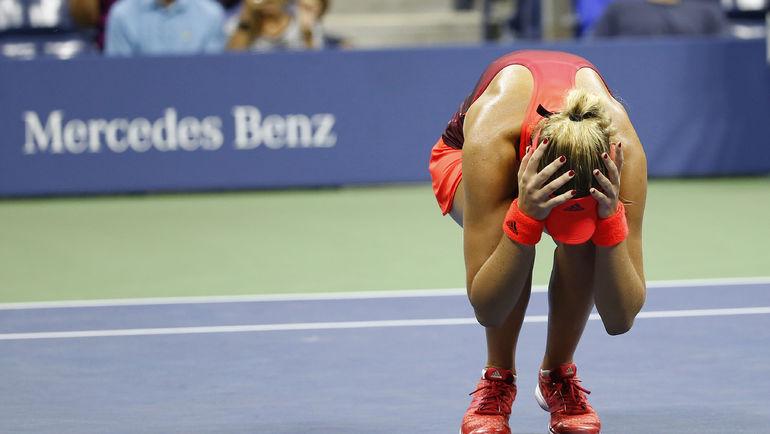 Вчера. Нью-Йорк. Кристина МЛАДЕНОВИЧ только что вышла в четвертьфинал. Фото USA Today