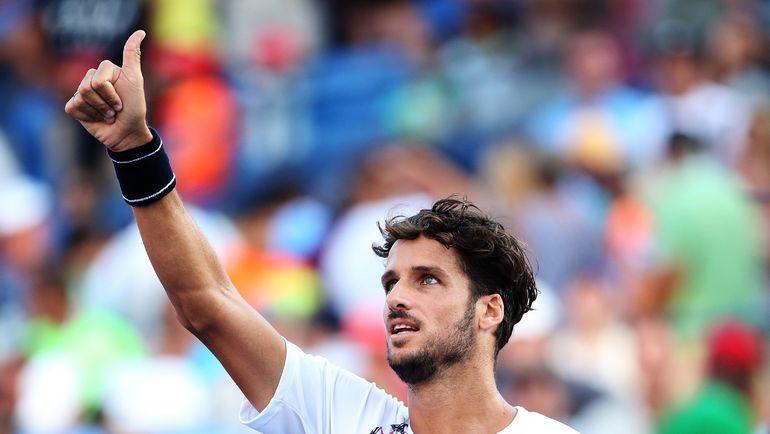 Вчера. Нью-Йорк. Фелисиано ЛОПЕС за две недели до своего 34-летия стал четвертьфиналистом US Open. Фото AFP