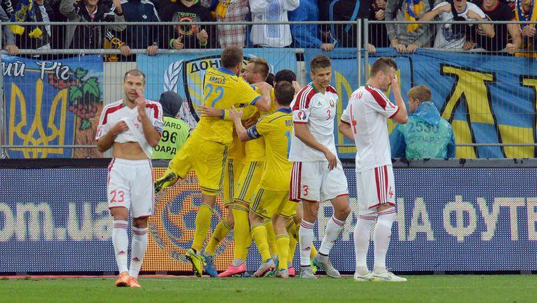 В субботу Украина победила Белоруссию во Львове - 3:1. Фото AFP