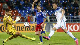 Вчера. Вадуц. Лихтенштейн - Россия - 0:7. 45-я минута. Второй из четырех голов Артема ДЗЮБЫ.