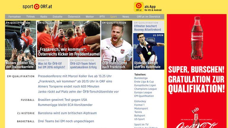 Австрийские СМИ хвалят свою команду.