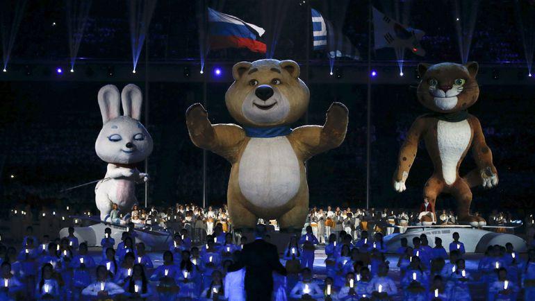 Талисманы Олимпийских игр-2014 в Сочи - Зайка, Мишка и Леопард. Фото REUTERS
