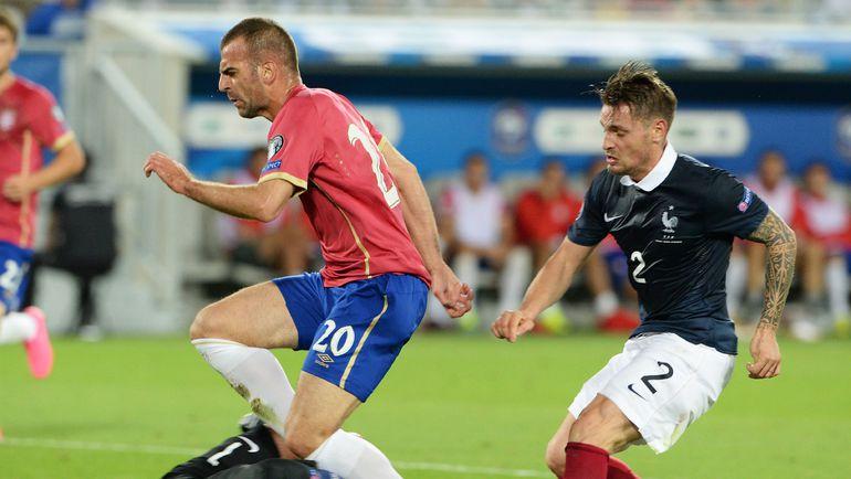 7 сентября. Бордо. Франция - Сербия - 2:1. Петар ШКУЛЕТИЧ (слева). Фото AFP