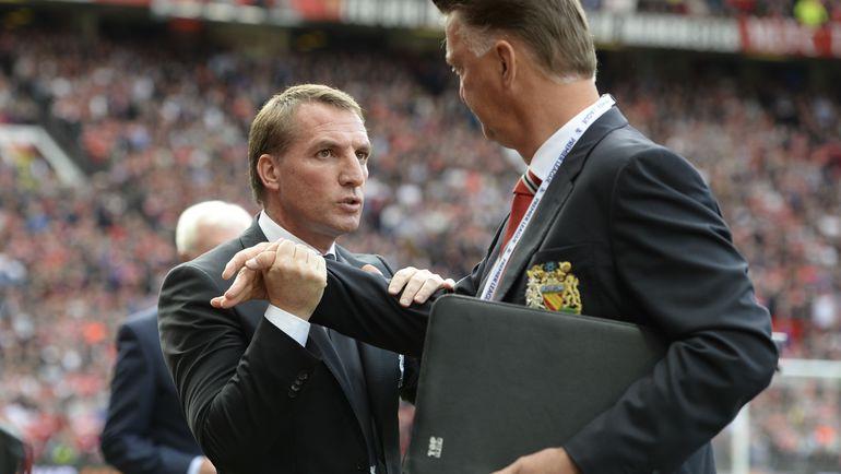 "Суббота. Манчестер, ""Манчестер Юнайтед"" - ""Ливерпуль"" - 3:1. Брендан РОДЖЕРС и Луи ВАН ГАЛ. Фото Reuters"