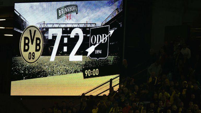 """27 августа 2015 года. Дортмунд. """"Боруссия"""" Д - """"Одд Гренланн"""" - 7:2. Фото AFP"""