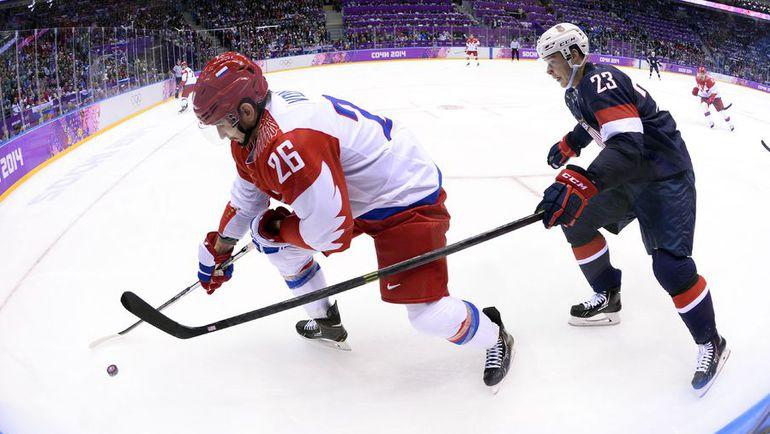 Вячеслав ВОЙНОВ и Дастин БРАУН. Фото REUTERS