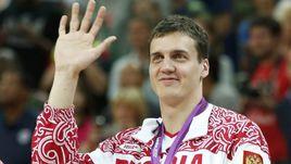 Александр КАУН с бронзовой медалью Олимпиады-2012 в Лондоне.