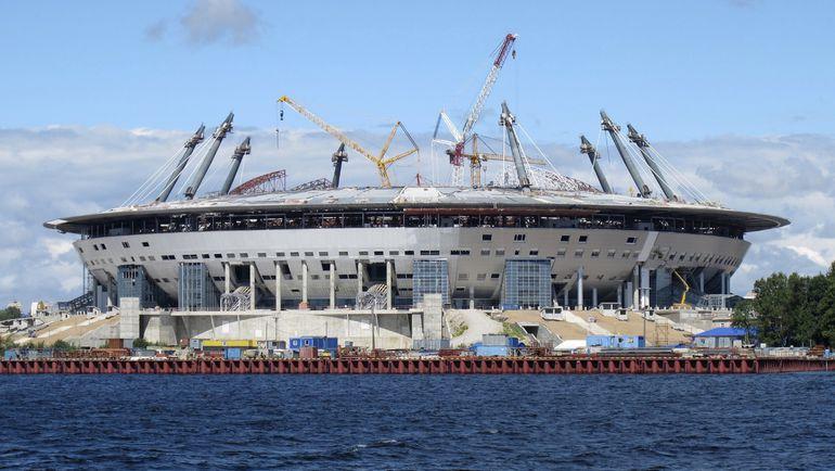 Строительство стадиона ЧМ-2018 на Крестовском острове Санкт-Петербурга. Фото REUTERS