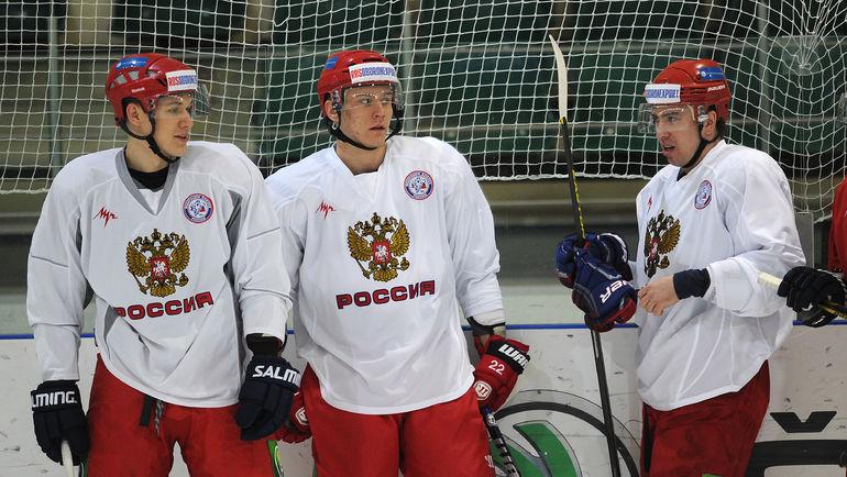 """Андрей МИРОНОВ, Никита ЗАЙЦЕВ и Илья ЗУБОВ. Фото Алексей ИВАНОВ, """"СЭ"""""""