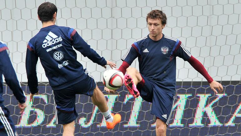 """Павел МАМАЕВ (справа) и Алан ДЗАГОЕВ. Фото Алексей ИВАНОВ, """"СЭ"""""""